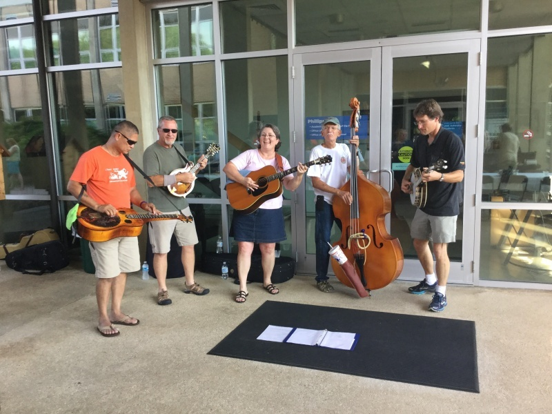 Quarterhouse Bluegrass band performs at the closing dinner on Saturday, June 11 at Phillips Hall.
