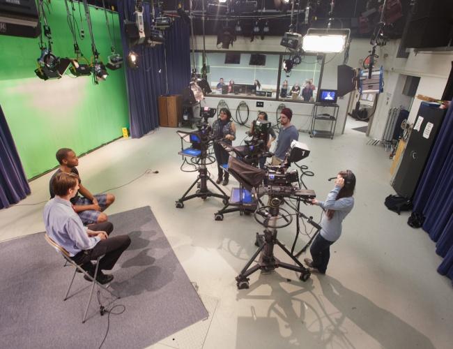 Eastern Connecticut State University TV studio