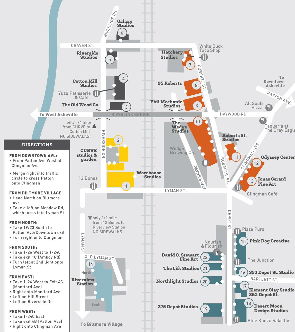 River Arts District Map