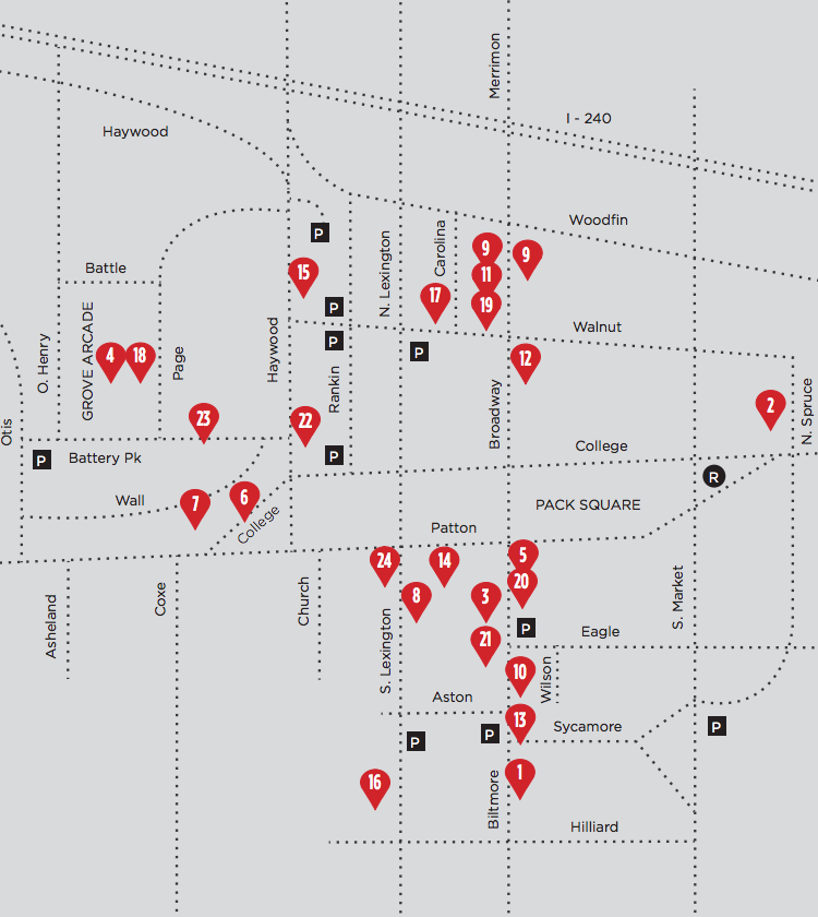 Map of Downtown Art Galleries