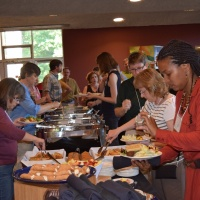Participants Enjoy A Pasta Bar Dinner Catered By Chartwells On Saturday, June 11 In Lipinsky Hall.